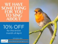 Bird singing - 10% off your stay using promo code SPRING10